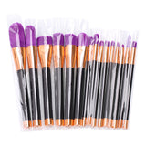 15 Pcs. Makeup Brush Set-Black+ Purple