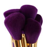 15 Pcs. Makeup Brush Set-Purple+ Purple