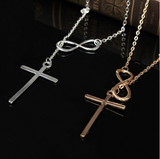 Cross Infinity Pendant Necklace - marketplacefinds  - 4