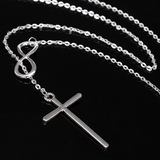 Cross Infinity Pendant Necklace - marketplacefinds  - 2