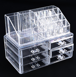 Professional Makeup Organizer Clear Acrylic Drawers Grids Display Box Storage Cosmetics - marketplacefinds  - 3