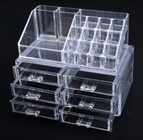 Professional Makeup Organizer Clear Acrylic Drawers Grids Display Box Storage Cosmetics - marketplacefinds  - 4