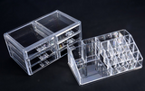 Professional Makeup Organizer Clear Acrylic Drawers Grids Display Box Storage Cosmetics - marketplacefinds  - 5