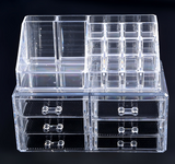 Professional Makeup Organizer Clear Acrylic Drawers Grids Display Box Storage Cosmetics - marketplacefinds  - 2