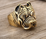 Man's Unique Stainless Steel Titanium Animal Pit Bull Dog Ring Jewelry - marketplacefinds  - 5