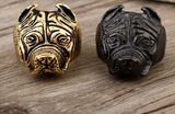 Man's Unique Stainless Steel Titanium Animal Pit Bull Dog Ring Jewelry - marketplacefinds  - 4
