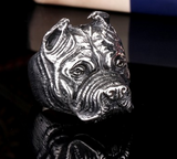 Man's Unique Stainless Steel Titanium Animal Pit Bull Dog Ring Jewelry - marketplacefinds  - 8