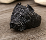 Man's Unique Stainless Steel Titanium Animal Pit Bull Dog Ring Jewelry - marketplacefinds  - 9