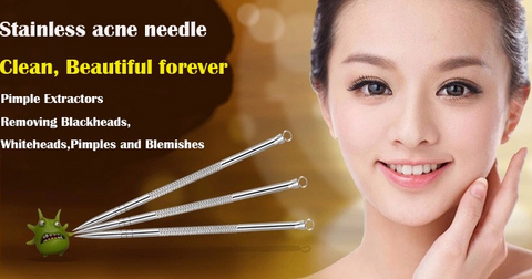 5 Pcs Multipurpose Blackhead Acne Extractor Stainless Steel Tool Kit - marketplacefinds  - 1
