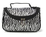 Small Women Makeup Cosmetic Zebra Toiletry Bag - marketplacefinds  - 3