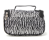 Small Women Makeup Cosmetic Zebra Toiletry Bag - marketplacefinds  - 4