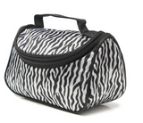 Small Women Makeup Cosmetic Zebra Toiletry Bag - marketplacefinds  - 2