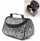 Small Women Makeup Cosmetic Zebra Toiletry Bag - marketplacefinds  - 1