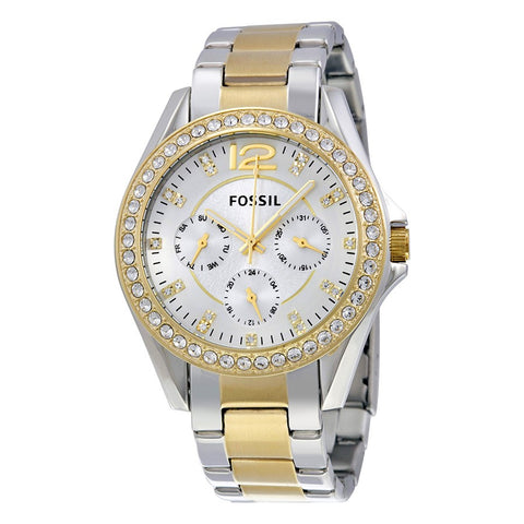Women's Fossil Riley Crystal Stainless Steel Watch