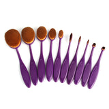 10 Pcs Toothbrush Makeup Brushes - Purple - marketplacefinds  - 2