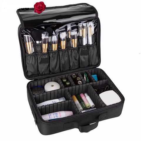 3 Layer Cosmetic Organizer Case