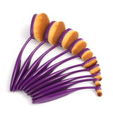 10 Pcs Toothbrush Makeup Brushes - Purple - marketplacefinds  - 4