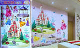 Princess Castle Wall Stickers Vinyl Decal Girls Kids Bedroom Art Large Colorful Home Decor - marketplacefinds  - 3