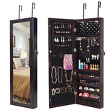 Mirrored Jewelry Organizer Armoire  Lockable Wall Mount
