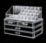 Women's Makeup Clear Acrylic Cosmetics Organizer  4 Drawers Display Box Storage - marketplacefinds  - 6