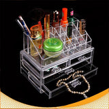 Women's Makeup Clear Acrylic Cosmetics Organizer  4 Drawers Display Box Storage - marketplacefinds  - 1