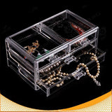 Women's Makeup Clear Acrylic Cosmetics Organizer  4 Drawers Display Box Storage - marketplacefinds  - 2