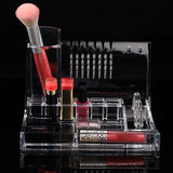 Jewelry Organizer Women Clear Mirror Cosmetics Makeup  Holder  Multifunction - marketplacefinds  - 2