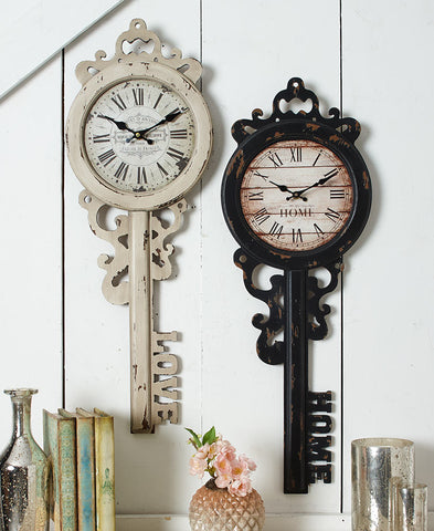 Vintage-Inspired Key Wall Clocks