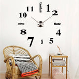 3D DIY Large Wall Clock - marketplacefinds  - 4