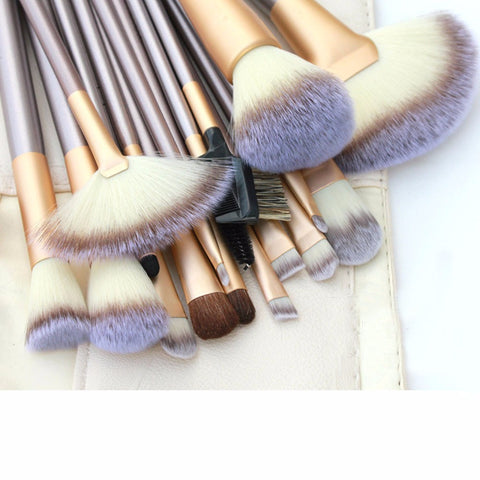 18 Pcs. Professional Cosmetics Foundation Makeup Brush Powder Eye Liner Brush - marketplacefinds  - 1