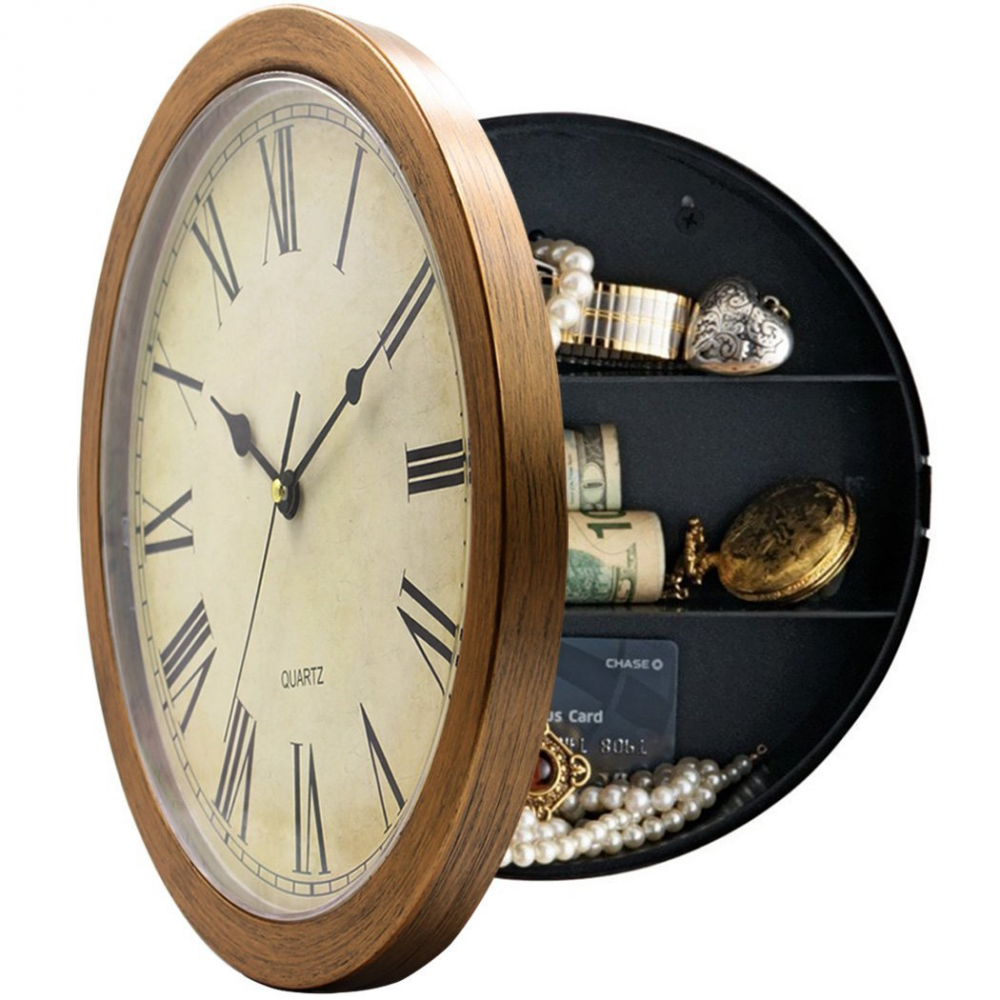 Buy wall clock with hidden safe at marketplacefinds for only 2999 wall clock with hidden safe amipublicfo Images