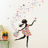 Butterfly Girl Art Wall Decal