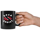 11 oz Black Ceramic Mug - Soca Addict