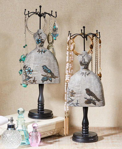 Vintage-Look Dress Form Jewelry Stands