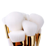 15 Pcs. Makeup Brush Set-White