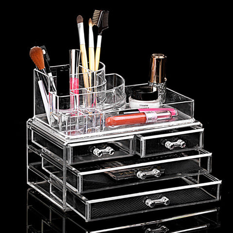 Women's Fashion Cosmetics Makeup  Drawers Display Clear Cosmetics Containers Box Storage - marketplacefinds  - 1