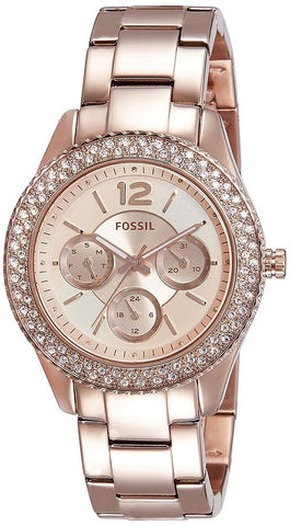 Women's Fossil Stella Rose Gold Stainless Steel Quartz Watch