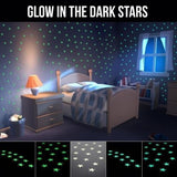 100Pcs Stars Wall Sticker Home Decor Glow In The Dark Decal Baby Kid room Home Decor - marketplacefinds  - 2