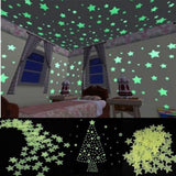 100Pcs Stars Wall Sticker Home Decor Glow In The Dark Decal Baby Kid room Home Decor - marketplacefinds  - 6
