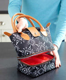 Insulated Lunch Totes with Dual-Compartment - marketplacefinds  - 4