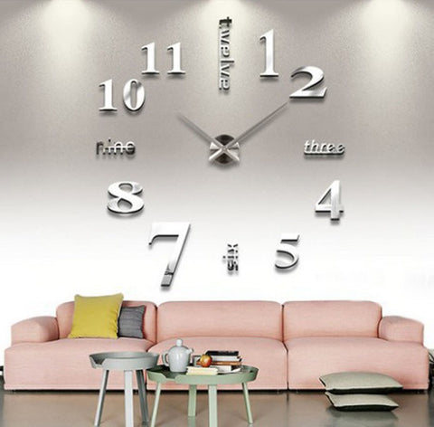 3D DIY Large Wall Clock - marketplacefinds  - 2