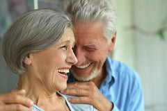Elderly, smile, oral health, couple together
