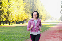 woman, jogging, healthy habits, cancer prevention