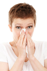 woman, sneezing, cold, treatment