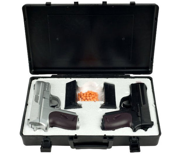 Cyma Dual Spring Airsoft Pistols With Carrying Case