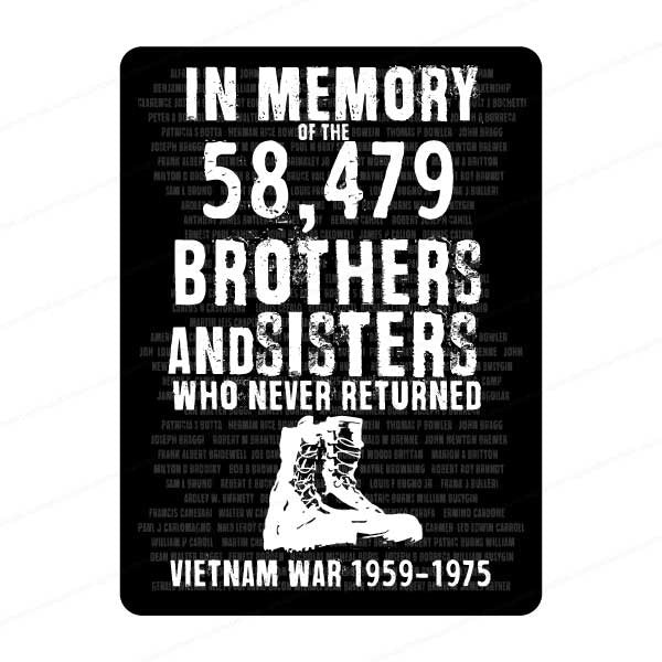 In memory of Vietnam war Decal sticker - FREE SHIPPING