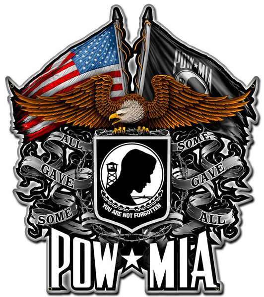 POW/MIA All Gave Some - Some Gave All Decal Sticker 5""