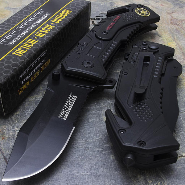 7.5 inches - TAC FORCE SPRING ASSISTED FOLDING KNIFE Pocket Blade Tactical