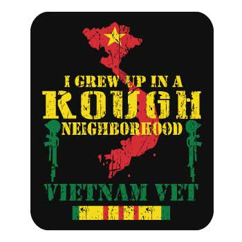 "I GREW UP IN A ROUGH NEIGHBORHOOD - VIETNAM VET sticker 6"" - FREE SHIPPING"