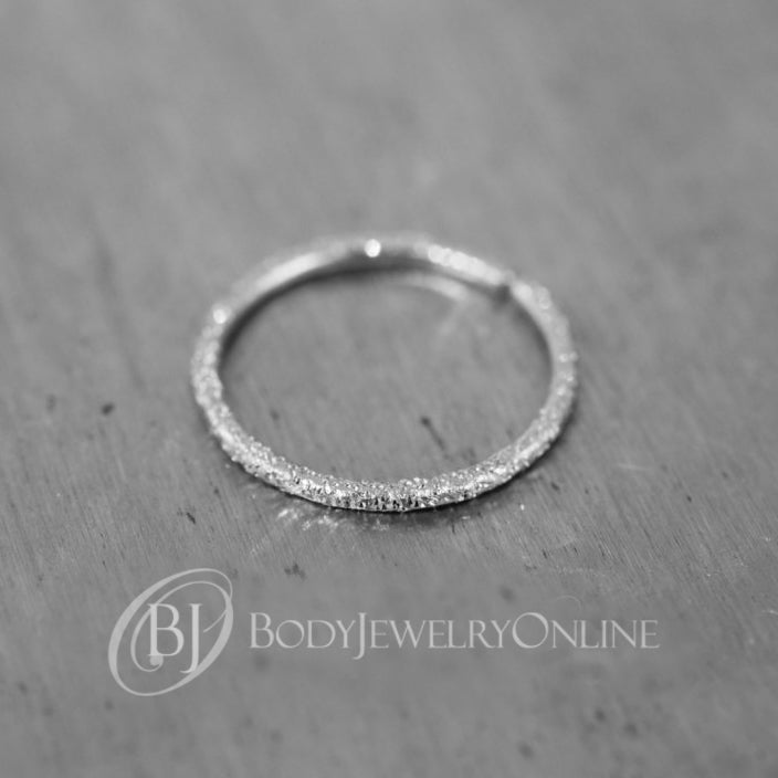 a0ac0b5063660 Nose Ring Diamond Cut Sparkly / Cartilage - Gold or Silver - 20 gauge Nose  Hoop -VARIETY of Sizes - Earring Helix Tragus Septum Eyebrow Lip Conch